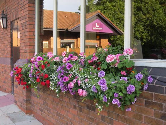 Premier Inn Liverpool (West Derby) Hotel: Attractive flower trough