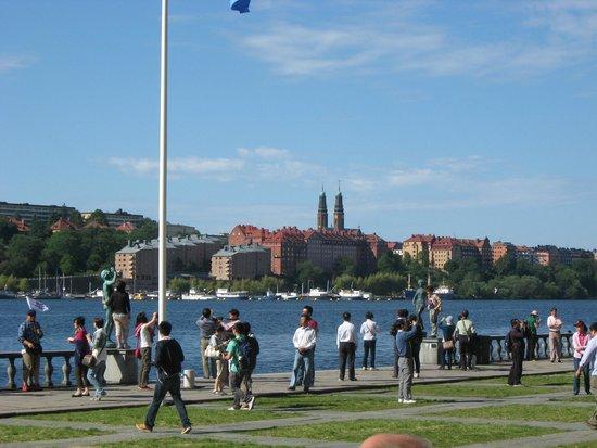 Ayuntamiento: Вид от ратуши на озеро и Стокгольм