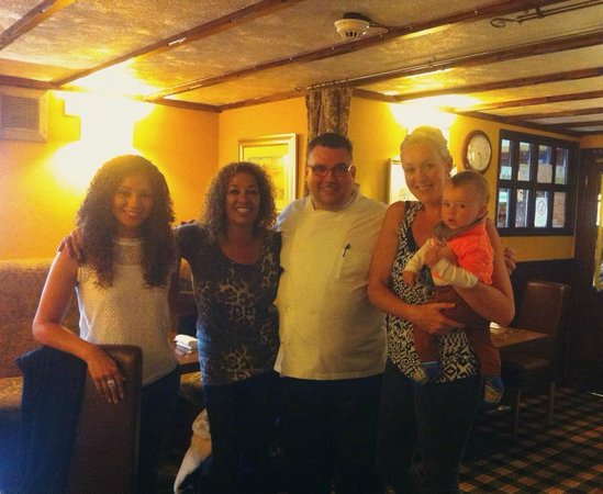 The Sorn Inn: The family and Chef Craig.