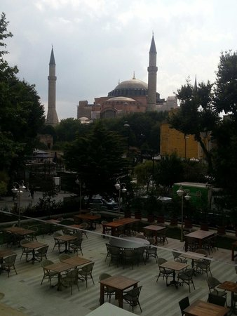 Hagia Sophia Hotel Istanbul Old City : From the 1st floor terrace