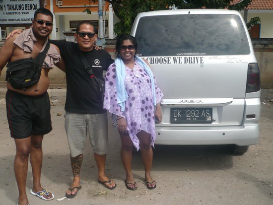Private Driver in Bali - Made Dodi 'Family Team': NitaVarman with Hery