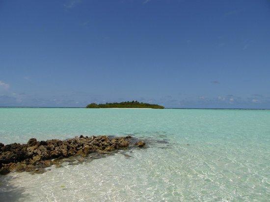 Rihiveli by Castaway Hotels & Escapes: вид на соседний необитаемый остров