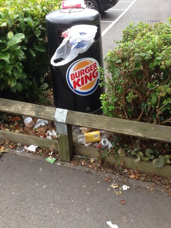 Burger King: Staff need to pay more attention to rubbish control