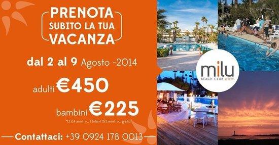 Milu Beach Club | Hotel & Resort : Promozione Estate 2014