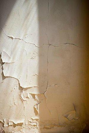 Paint peeling in the room