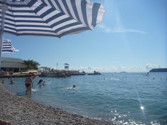 Valamar Dubrovnik President Hotel : Hotel beach - very clean water