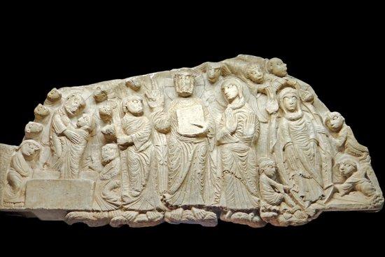 Centre de Sculpture Romane : Tympan marial du maître de Cabestany