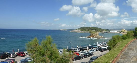 Gran Hotel Sardinero: View from our bedroom & terrace