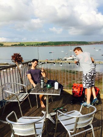 Moorings Cafe Bar: Views from the top decking
