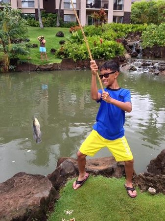 Marriott's Waiohai Beach Club: This was my son's first time fishing and he had a blast!  He caught a total of 12!