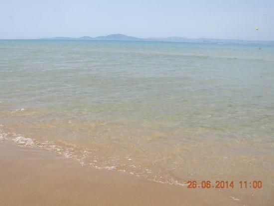 Hotel Brati - Arkoudi: Long beach, Zakynthos view