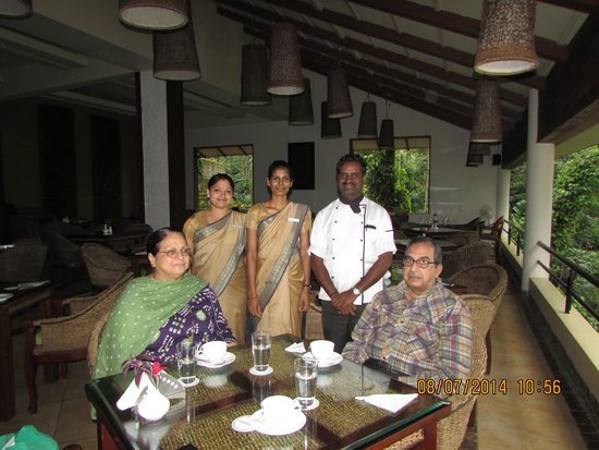 The Windflower Resort and Spa, Coorg: Chef and Team with Mom & Dad