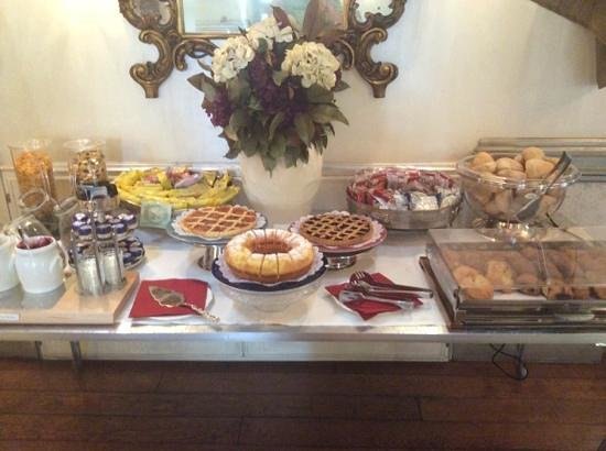 Hotel San Anselmo: some of the breakfast on offer.