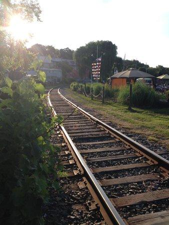 Seneca Harbor Station : Train Tracks running along side
