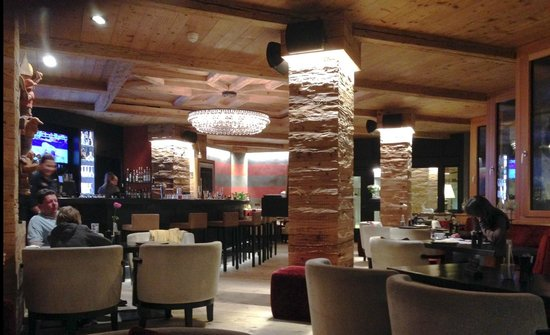 The bar at the Hotel Piz Buin - Klosters July 2014