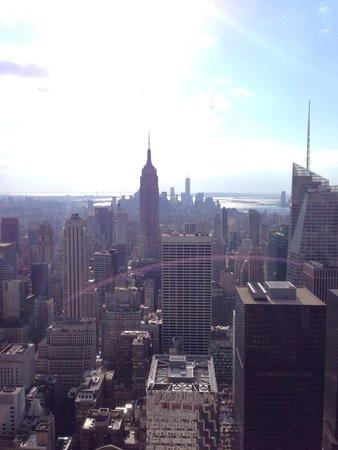 Rockefeller Center: Vista hacia el Empire State
