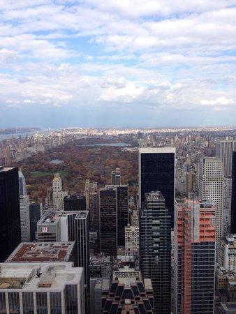 Rockefeller Center: Vista hacia el central park en otoño 🍂🍁
