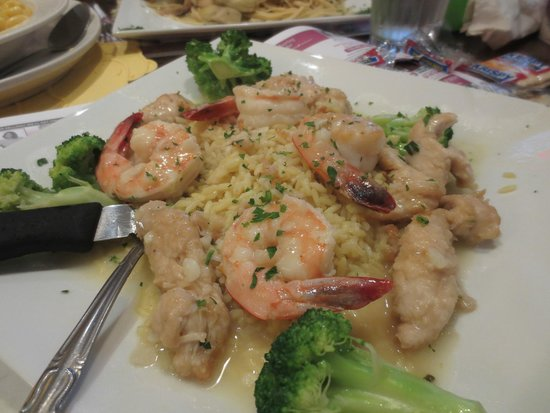 All Seasons Diner II: Delicious Shrimp and Chicken Scampi. Shared some of the rice with my grandsons and they loved it