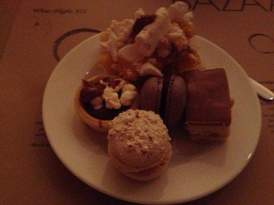 Bazaar at the QT Hotel: Dessert selection