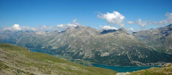 Mount Corvatsch: Blick auf den Silser und Silvaplaner See