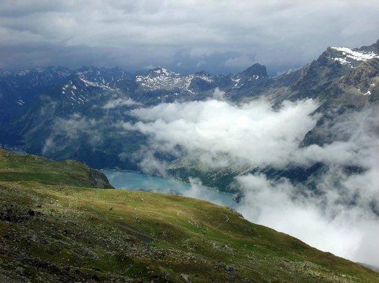 Mount Corvatsch : Selbst bei schlechtem Wetter eindrucksvoll