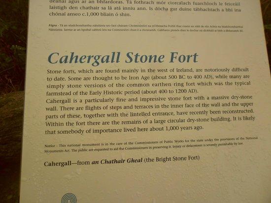 Cahergall Fort: Présentation en anglais