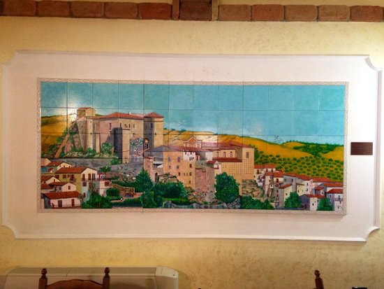 Agriturismo Cervinace: Dipinto su mattonelle