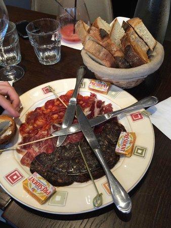Brasserie Baroche : Assiette de charcuterie