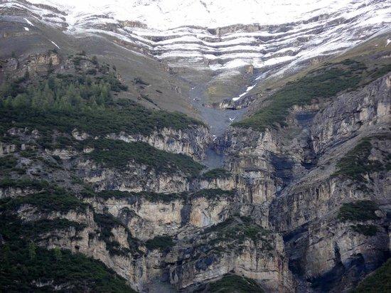 Munt-la-Schera-Tunnel : Felswände auf der italienischen Seite