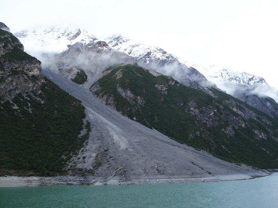 Munt-la-Schera-Tunnel : Rutschhang auf der italienischen Seite