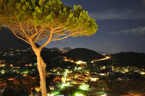 """San Montano Resort & SPA : Blick von der """"Gartenseite"""" auf den Monte Epomeo"""