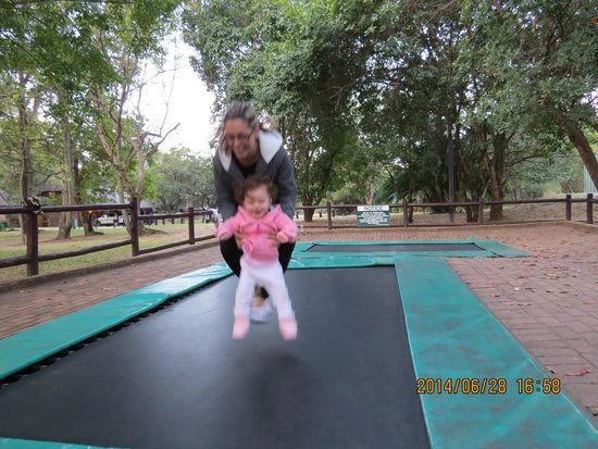 Kruger Park Lodge: My first jump on a tramp