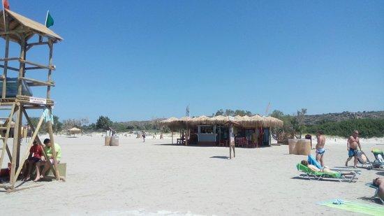 Playa de Elafonisi: kiosque