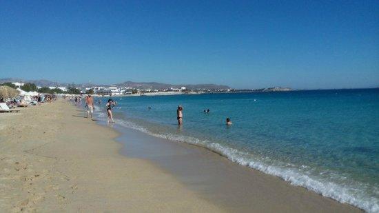 Agios Prokopios Beach : longue plage
