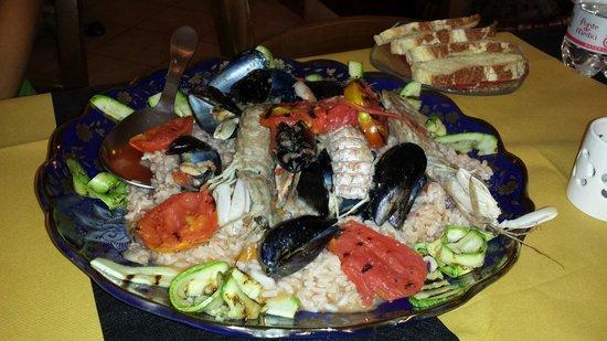 L'Oro di Siena: Risotto alla pescatora molto fresco e creativo