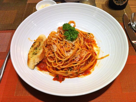 Eastin Grand Hotel Sathorn : favolosi spaghetti all'arrabbiata!