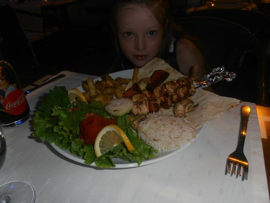 Inci Restaurant: beautiful food/ this was a childs meal