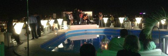 AC Hotel Malaga Palacio: Fantastic Modern Flamenco on the Roof Top Bar