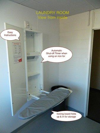 YMCA Hostel: IRONING BOARD IN LAUNDRY ROOM