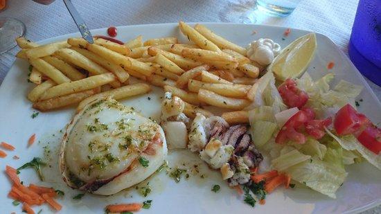 LA GOLOSONA: sepia con patatas fritas