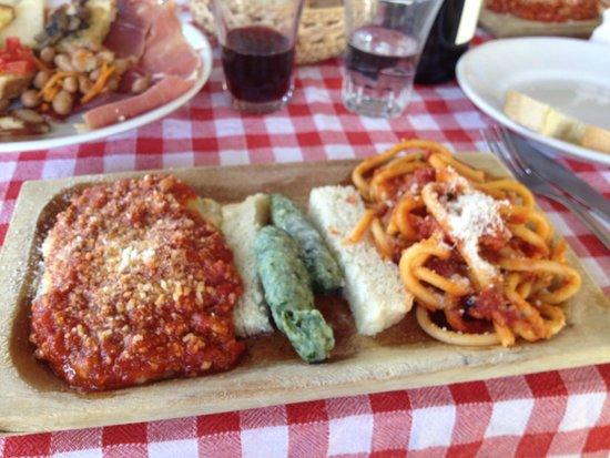 Ristorante La Stalla: Trio of pasta sampler