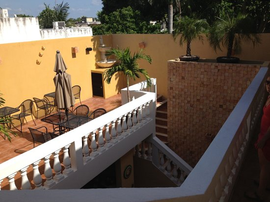 Hotel del Peregrino: View from the upper patio.