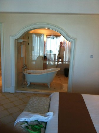 Pullman Shanghai Skyway Hotel: View of the bath from the room