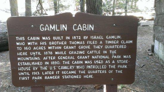 Grant Grove: History of Cabin