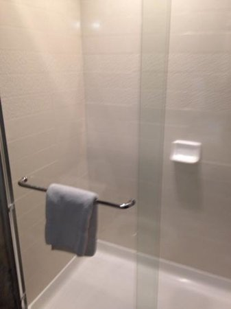 Holiday Inn Express Hotel & Suites St Louis Airport: shower with glass doors