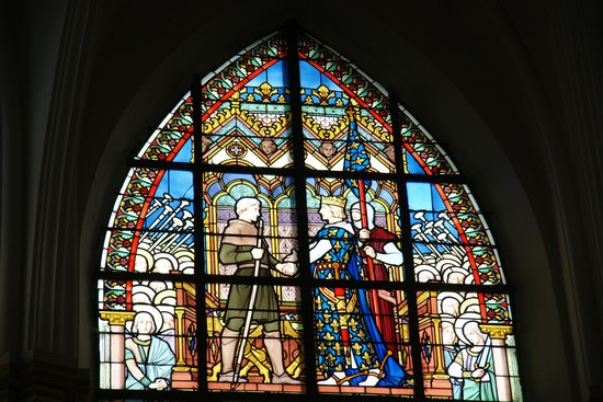 Bouvines, France: The King of France thanking one of his knigths