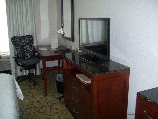 Hilton Garden Inn Queens/JFK Airport: tv and desk