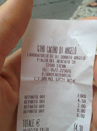 Gino Cacino di Angelo: Prodotti Tipici Buonissimi e prezzi Bassissimi :D Panino 4,50€ - porchetta calda 3,00€ - Acqua 1