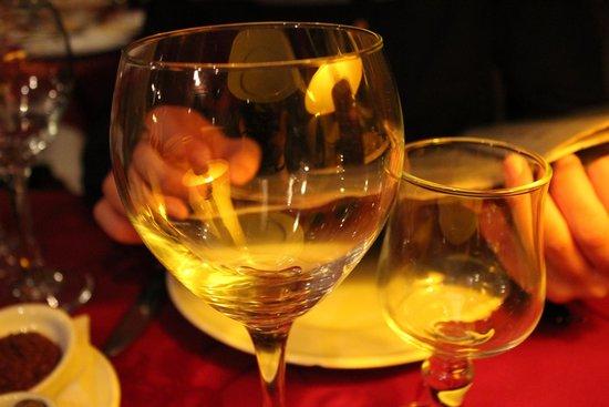 Escargot: Biggest wine glasses