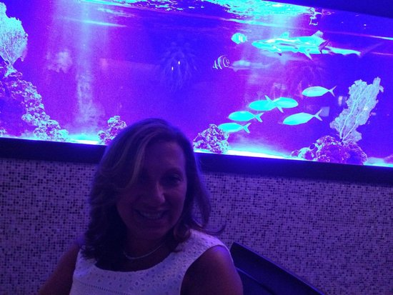 The Seagate Hotel & Spa: Dinner at Seagate in front if the shark tank